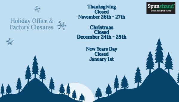 Spunstrand Holiday Closures
